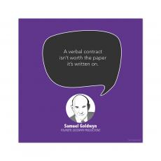 All Motivational Posters - Verbal Contract, Samuel Goldwyn - Startup Quote Poster