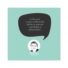 All Motivational Posters - Vision Without Ability, Steve Case - Startup Quote Poster