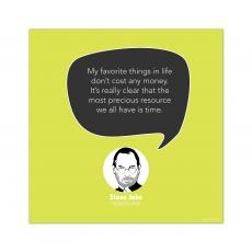 All Motivational Posters - Most Precious Resource, Steve Jobs - Startup Quote Poster