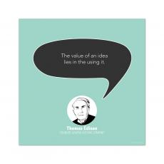 All Motivational Posters - Value of an Idea, Thomas Edison - Startup Quote Poster