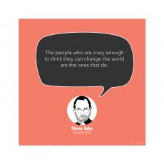 All Motivational Posters - Crazy People, Steve Jobs - Startup Quote Poster