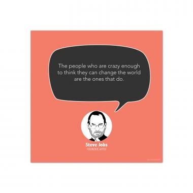 Crazy People, Steve Jobs - Startup Quote Poster