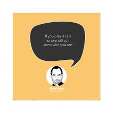 All Motivational Posters - Play It Safe, Steve Jobs - Startup Quote Poster