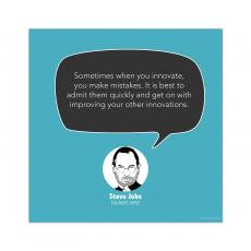Contemporary Inspirational Art - Innovate, Steve Jobs - Startup Quote Poster