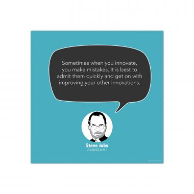 Innovate, Steve Jobs - Startup Quote Poster