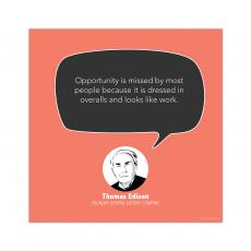 All Motivational Posters - Opportunity, Thomas Edison - Startup Quote Poster