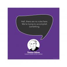 All Motivational Posters - No Rules, Thomas Edison - Startup Quote Poster