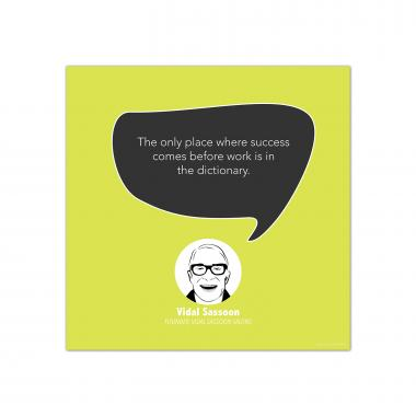 Success, Vidal Sassoon - Startup Quote Poster