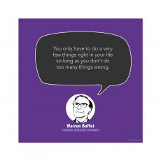 All Motivational Posters - Wrong Things, Warren Buffet - Startup Quote Poster