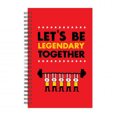 Let's Be Legendary Spiral Notebook