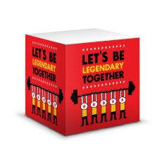 Closeout and Sale Center - Let's Be Legendary Self-Stick Note Cube