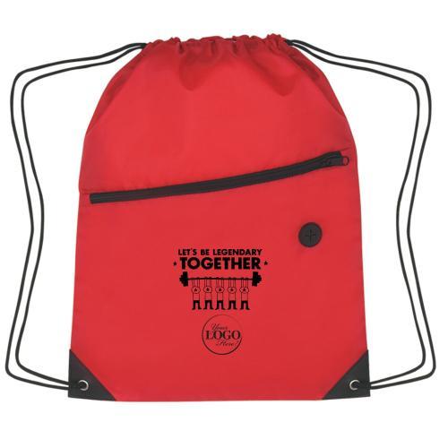 Let's Be Legendary Cinch Close Backpack