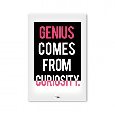 Genius Comes From Curiosity - Y&R Poster