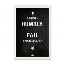All Motivational Posters - Triumph Humbly - Y&R Poster