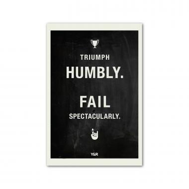 Triumph Humbly - Y&R Poster
