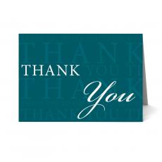New Greeting Cards - Green Thank You Card 25 Pack