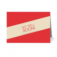 New Greeting Cards - Band Aid Get Well Soon Card 25 Pack