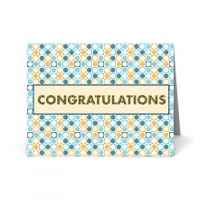 Congratulations Cards - Geometric Congratulations Card 25 Pack