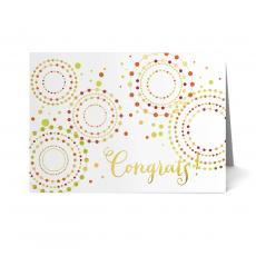 Recognition Cards - Fireworks Congratulations Card 25 Pack