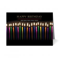 New Greeting Cards - Candles Happy Birthday Card 25 Pack