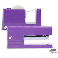 Closeout and Sale Center - Brighten Up Purple Stapler and Tape Dispenser Gift Set