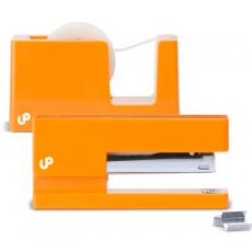 Closeout and Sale Center - Brighten Up Orange Stapler and Tape Dispenser Gift Set