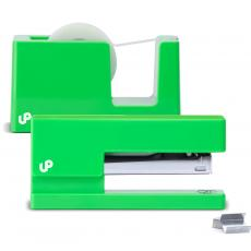 Closeout and Sale Center - Brighten Up Green Stapler and Tape Dispenser Gift Set