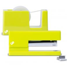 Closeout and Sale Center - Brighten Up Yellow Stapler and Tape Dispenser Gift Set