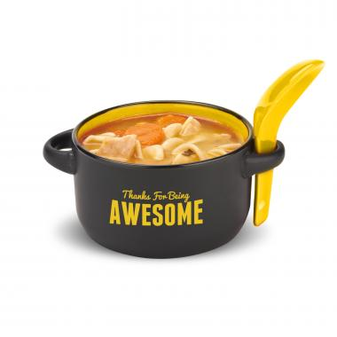 Thanks for Being Awesome Soup Mug & Spoon