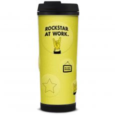 Closeout and Sale Center - Rockstar at Work Glitter Travel Tumbler