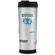 Business Essentials - Awesomeness in Progress Glitter Travel Tumbler