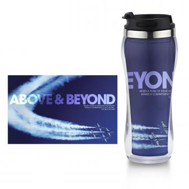Above and Beyond Jets Flip Top Travel Mug