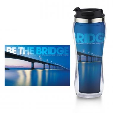 Be the Bridge Flip Top Travel Mug