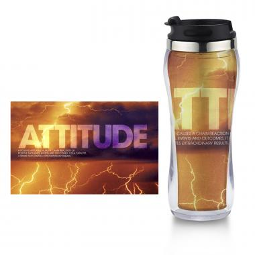 Attitude Lightning Flip Top Travel Mug