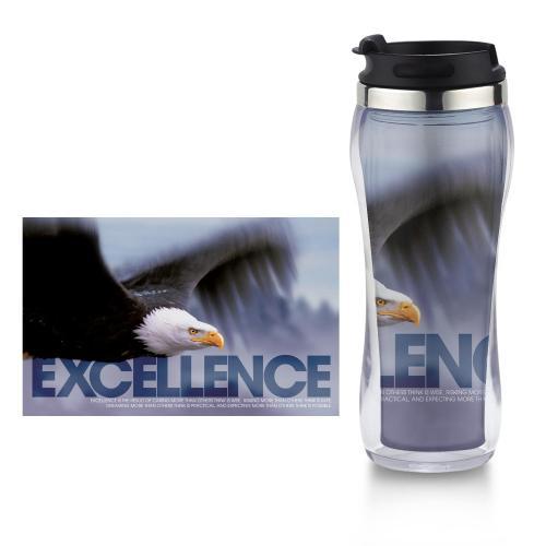 Excellence Eagle Flip Top Travel Mug