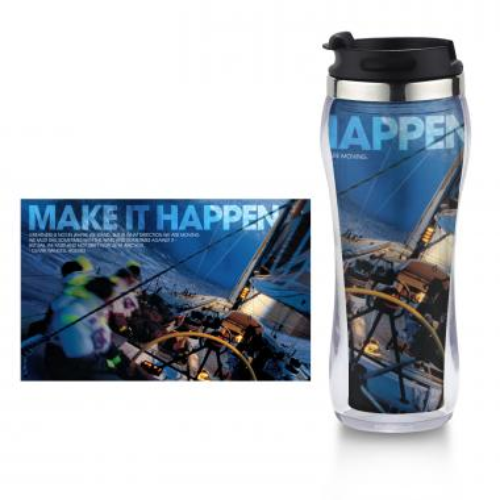 Make it Happen Flip Top Travel Mug