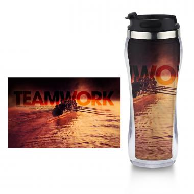 Teamwork Rowers Flip Top Travel Mug