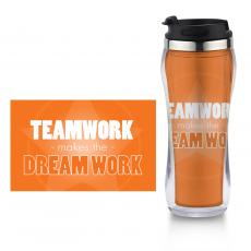 Teamwork Makes the Dream Work - Dream Work Flip Top Travel Mug