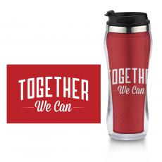 Closeout and Sale Center - Together We Can Flip Top Travel Mug