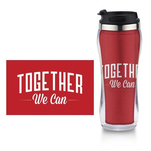 Together We Can Flip Top Travel Mug