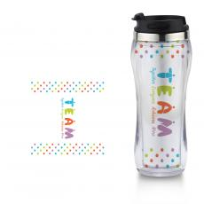 Travel Mugs - Teamwork People Flip Top Travel Mug