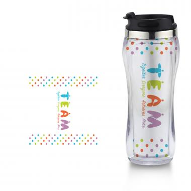 Teamwork People Flip Top Travel Mug
