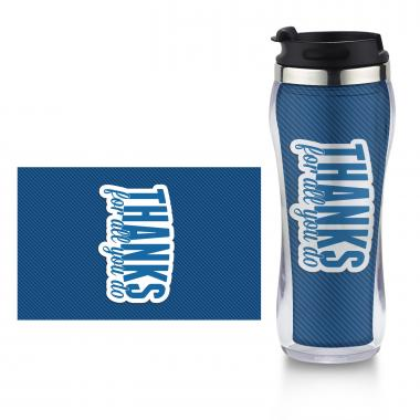 Thanks for All You Do Flip Top Travel Mug
