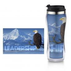 Travel Mugs - Leadership Eagle Flip Top Travel Mug