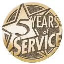 Years of Service Brass Medallion