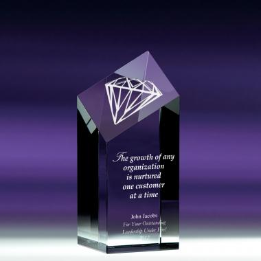 Diamond Service Crystal Award