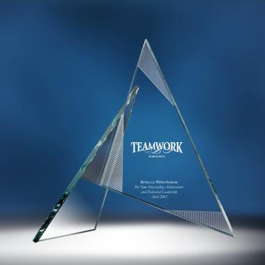 Teamwork Sculpture Glass Award