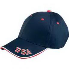 Apparel - 6 Panel Mid-Profile cap with USA embroidery