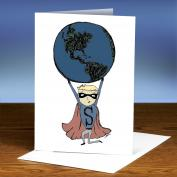 Save The Planet Boy 25-Pack Greeting Cards