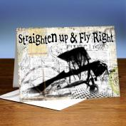 Straighten Up and Fly Right 25-Pack Greeting Cards